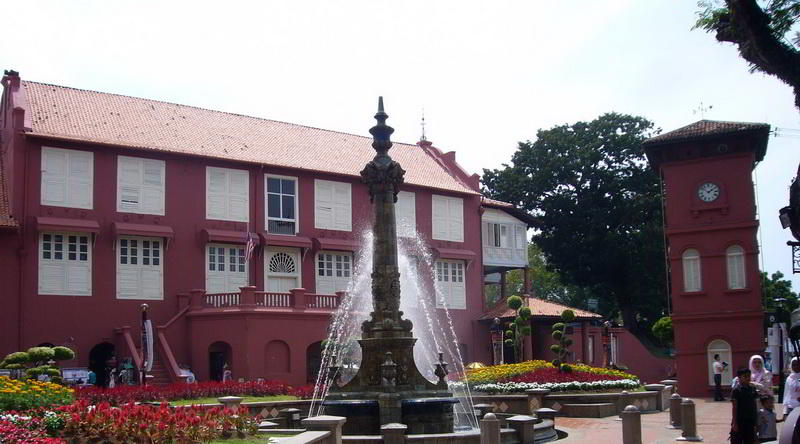 Am roten Platz in in Malacca