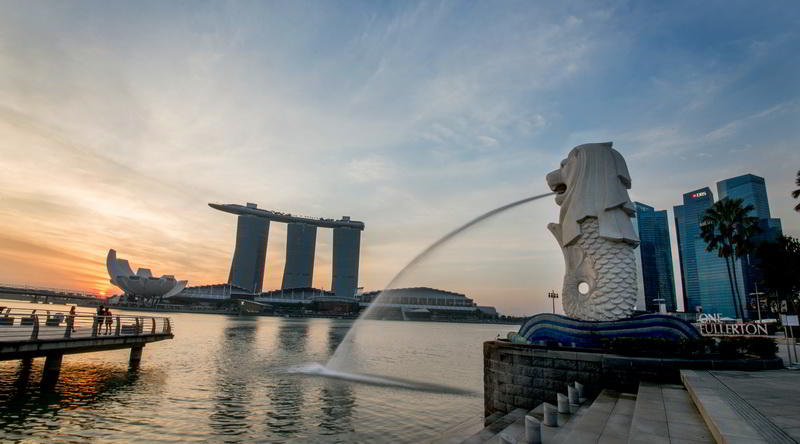 Merlion in Singapore © Image courtesy of the Singapore Tourism Board