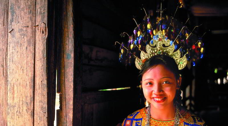 Iban girl with traditional garb © Sarawak Tourism Board